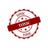 Toxic stamp illustration Stock Photography