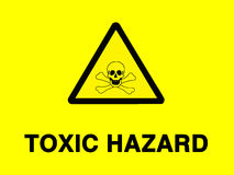 Toxic risk sign Stock Photos