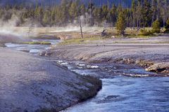 Toxic River in Yellowstone Royalty Free Stock Images