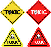 Toxic sign. A collection of very clear toxic warning signs Stock Photos