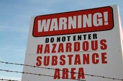 Toxic Site Cancer Warning b Royalty Free Stock Photos