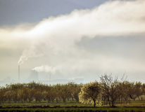 Toxic smog created by power plant emissions Stock Images