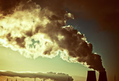 Toxic smoke. Dramatic colors effect stock images