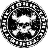 Toxic stamp. Vector image of an impress of seal with skull and an inscription toxic Stock Photography