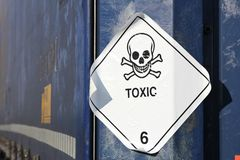 Toxic substances. Pictogram for chemical hazard: toxic substances royalty free stock photo