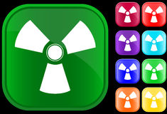 Toxic symbol. On shiny square buttons Stock Illustration