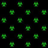Toxic symbol seamless pattern Stock Image