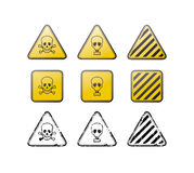 Toxic vector icons and stamps Stock Photo
