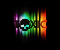 Toxic wallpaper. A toxic wallpaper with a skull and text Royalty Free Stock Image