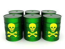 Toxic waste barrel Royalty Free Stock Images