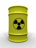 Toxic waste barrel. 3d rendering illustration of toxic waste barrels. A clipping path is included for easy editing Stock Photo