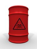 Toxic waste barrel Royalty Free Stock Photo