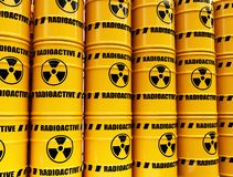 Toxic waste barrels Royalty Free Stock Image