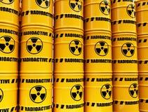 Toxic waste barrels Royalty Free Stock Image