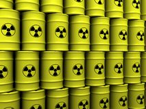Toxic waste barrels Royalty Free Stock Photo