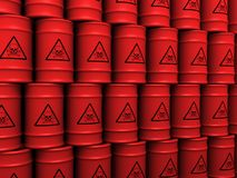 Toxic waste barrels Stock Image