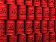 Toxic waste barrels. 3d rendering illustration of toxic waste barrels Stock Image
