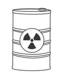Toxic waste contamination icon Stock Photos