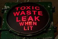 Toxic Waste. Leak Warning Light Stock Photography