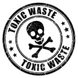 Toxic waste rubber stamp Royalty Free Stock Photography
