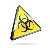 Toxic yellow sign Stock Image