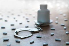 Toxicodependência, abuso médico e gancho e dependência dos narcóticos Imagens de Stock Royalty Free