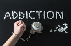 Toxicomane ou abus médical images stock