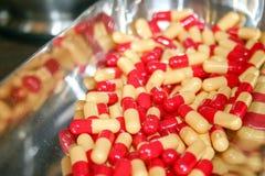 Toxicomanie, capsules photo stock