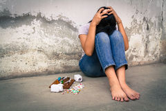 Toxicomanie dans l'adolescence image stock