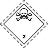 toxique de sécurité de plaquette de gaz Image stock