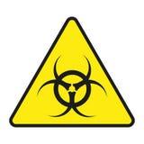 Toxique de signe de vecteur Toxique de signe d'isolement Toxique de avertissement de symbole Signe nucléaire Signe de rayonnement Image libre de droits