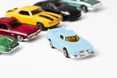Toy автомобили, голубые Стоковые Фото