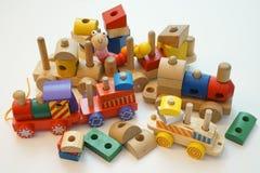 toy поезд деревянный Стоковые Изображения RF