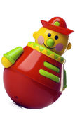 Toy. Roly-poly toy on white with clipping path Stock Photo