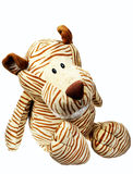 A toy. Toy for children Tiger made from safe soft materials Stock Photos