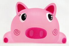 Toy. A pink pig head Royalty Free Stock Photography
