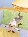 Toy. Hanging toy in baby bed stock photography