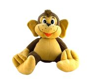 Toy. Monkey toy isolated on white royalty free stock images