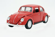 Toy. Red toy beetle isolated on white Stock Images