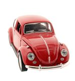 Toy. Red toy car on white Stock Photos