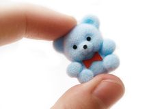 Toy. Cute tiny teddy bear Royalty Free Stock Image