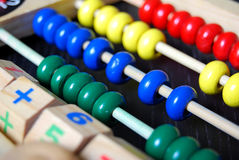Toy Abacus 2. A wooden abacus for kids education stock image