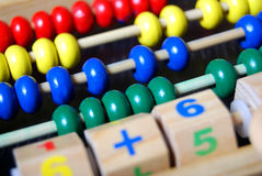 Toy abacus stock image
