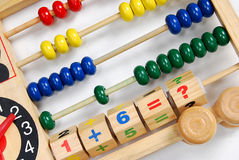 Toy Abacus. A wooden abacus for kids education stock photos