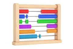 Toy Abacus, 3D rendering. On white background Royalty Free Stock Photos