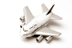 Toy airplane. Isolated on white royalty free stock photography