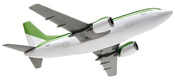 Toy Airplane. Hand made clipping path included Royalty Free Stock Photo
