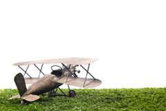 Toy Airplane isolated on white Royalty Free Stock Images