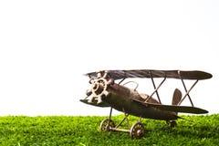 Toy Airplane isolated on white Stock Photos