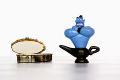 Toy aladdin genie Royalty Free Stock Images